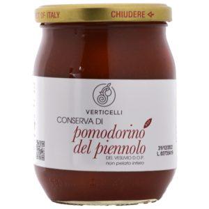 Tomatenkonserven aus Piennolo del Vesuvio DOP Verticelli