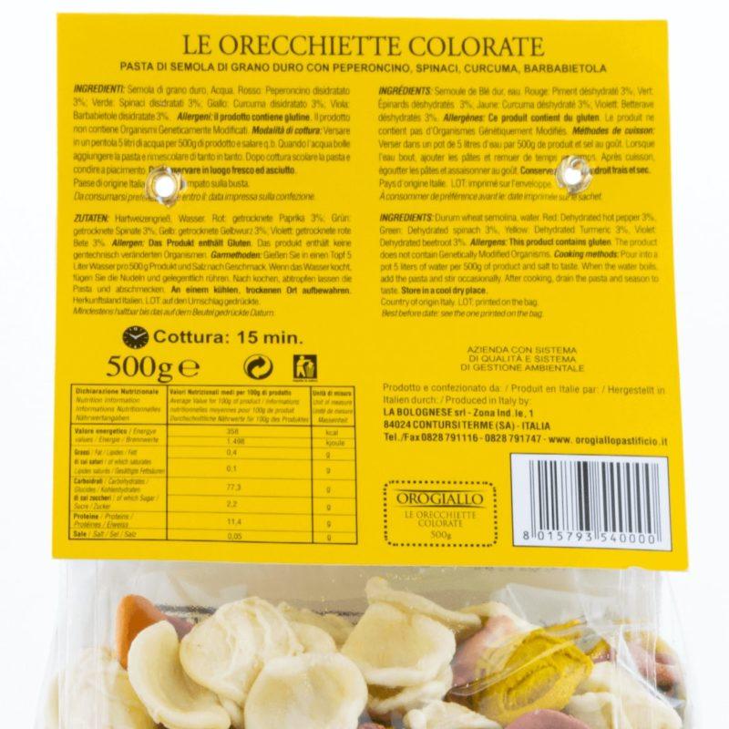 Golden Yellow Orecchiette 500g