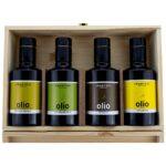 Porto di Mola Natives Olivenöl Extra aus Holz Geschenkbox